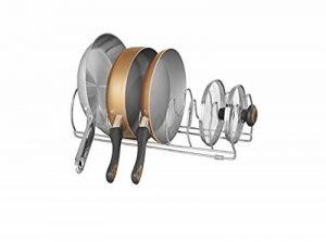 mDesign égouttoir à vaisselle – rangement cuisine en métal – parfait pour ustensile de cuisine (poêles, casseroles et assiettes) – gris de la marque MetroDecor image 0 produit