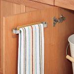 mDesign Porte-serviettes AFFIX – Porte-torchon à coller – Barre porte serviette pour la cuisine, la salle de bain ou le garage – Facile à monter de la marque MetroDecor image 1 produit