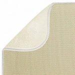 mDesign tapis égouttoir (lot de 2) – pour verres, assiettes, poêles – tapis d'évier – tapis de protection résistant qui sèche vite – en polyester – beige/ivoire de la marque MetroDecor image 3 produit