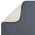 mDesign tapis égouttoir (lot de 2) – pour verres, assiettes, poêles – tapis d'évier – tapis de protection résistant qui sèche vite – en polyester – gris de la marque MetroDecor image 3 produit