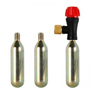 Meiqils 3boîtes de gaz CO216g Cycle de pompe Gonfleur de pneu vélo Tête de gaz et prise en main de la marque Meiqils image 0 produit
