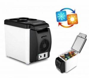 Mini-réfrigérateur 12V portable 2en 1chaud et froid 6litres pour voiture, caravane, maison, bureau, couleur aléatoire de la marque SL® image 0 produit