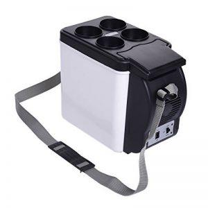 Mini Réfrigérateur 6L DC 12V Réfrigérateur de Voiture 2 en 1 Boîtes de Réfrigération/Incubateur Auto Camping Glacière Seau à Glace avec Sangle portable pour Voiture Maison, Bureau, Hôtel ou Dortoir de la marque Sun image 0 produit
