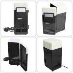 Mini Réfrigérateur 9cm*8cm*19cm Réfrigérateur de Voiture avec USB Interface Auto Camping Glacière Seau à Glace Boîtes de Conservation avec Poignée de Transport pour Voiture Maison, Bureau, Hôtel ou Dortoir (Noir) de la marque Sun image 3 produit
