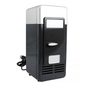 Mini Réfrigérateur 9cm*8cm*19cm Réfrigérateur de Voiture avec USB Interface Auto Camping Glacière Seau à Glace Boîtes de Conservation avec Poignée de Transport pour Voiture Maison, Bureau, Hôtel ou Dortoir (Noir) de la marque Sun image 0 produit