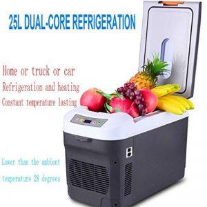 MNII 25L / 12L à double réfrigération nucléaire Voiture Réfrigérateur Mini frigo congelé à double utilisation 24V pour camions Réfrigération Chauffage 28 * 52 * 26cm , 25l dual refrigeration car home three-Aller en voyage de la marque MNII image 0 produit
