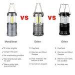 Moobibear 500LM LED lanternes de camping avec base magnétique, 30LEDs COB Technologie Alimenté par batterie Lanterne pliable résistant à l'eau pour pêche de nuit, la randonnée, les urgences, Lot de 2 de la marque Moobibear® image 1 produit