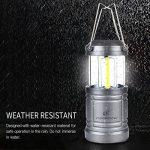 Moobibear 500LM LED lanternes de camping avec base magnétique, 30LEDs COB Technologie Alimenté par batterie Lanterne pliable résistant à l'eau pour pêche de nuit, la randonnée, les urgences, Lot de 2 de la marque Moobibear® image 2 produit