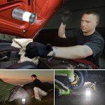 Moobibear 500LM LED lanternes de camping avec base magnétique, 30LEDs COB Technologie Alimenté par batterie Lanterne pliable résistant à l'eau pour pêche de nuit, la randonnée, les urgences, Lot de 2 de la marque Moobibear® image 4 produit