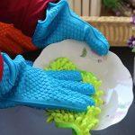 Moufles De Silicone Silicone 2 Pièces Gants Résistants à La Chaleur Bleu de la marque Hisuper-Store image 4 produit
