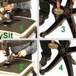 Mysit Chaise de bureau Piston à gaz Lift Cylindre | Heavy Duty 12,7cm Stroke Taille universelle Chaise de pneumatique Cylindre Ressort à gaz Tige de remplacement Noir (Gaslift120_ BLK _ UK) de la marque MySit image 4 produit