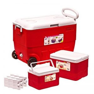 New 3PC Lot Rouge pique-nique glacière Camping extérieur Ice Coffre à nourriture Cooler de la marque EliteZotec® image 0 produit
