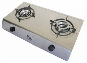 NJ Réchaud à gaz 200en acier inoxydable 2ampoules 8kW Réchaud de camping Réchaud Wok de la marque NJ image 0 produit