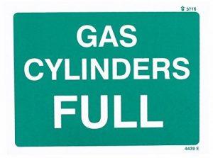 Nouvelle-Calédonie Signes 24439e Cylindre à gaz complet signe, autocollant en vinyle, 200mm x 150mm de la marque Caledonia Signs image 0 produit