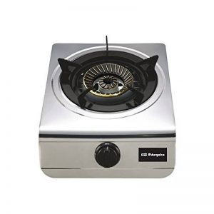 Orbegozo FO 1700Plaque de gaz en acier inoxydable, 4300W, propane/butane, rotatif, noir de la marque Orbegozo image 0 produit