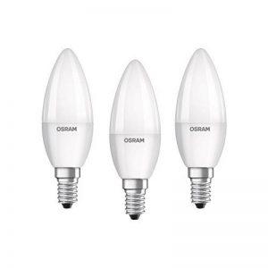 OSRAM ampoule LED E14 BASE Classic B/5,7 W - Equivalence incandescence 40 W, ampoule LED en forme de bougie/mat, blanc chaud - 2700K, lot de 3 de la marque Osram image 0 produit
