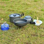 OUTAD Set de Cuisine Antiadhésive Popote en Aluminum Anodisé Pour Camping de la marque OUTAD image 1 produit