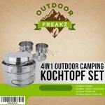 OUTDOOR FREAKZ Camping Kit de Faitout en inox, casseroles et faitouts de la marque OUTDOOR FREAKZ image 6 produit