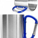 Outdoor Saxx Mug, camping extérieur | Compact Léger 200ml avec de geschraubtem Mousqueton Bleu Poignée en acier inoxydable–pour randonnée, trekking, de travail de la marque Outdoor Saxx image 1 produit