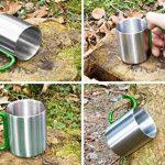Outdoor Saxx Mug, camping extérieur | Compact Léger 200ml avec geschraubtem Vert de Mousqueton Poignée en acier inoxydable–pour randonnée, trekking, de travail de la marque Outdoor Saxx image 4 produit
