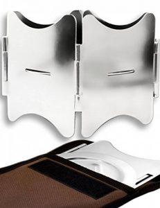 Outdoor saxx®–pliable compact Stove Réchaud | pour bois et Esbit Combustible sec |, pour pique-nique, la randonnée Voyager–Acier inoxydable avec sac de la marque OutdoorSaxx image 0 produit