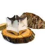 Outdoor saxx®–pliable compact Stove Réchaud | pour bois et Esbit Combustible sec |, pour pique-nique, la randonnée Voyager–Acier inoxydable avec sac de la marque OutdoorSaxx image 1 produit