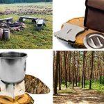 Outdoor saxx®–pliable compact Stove Réchaud | pour bois et Esbit Combustible sec |, pour pique-nique, la randonnée Voyager–Acier inoxydable avec sac de la marque OutdoorSaxx image 2 produit