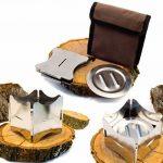 Outdoor saxx®–pliable compact Stove Réchaud | pour bois et Esbit Combustible sec |, pour pique-nique, la randonnée Voyager–Acier inoxydable avec sac de la marque OutdoorSaxx image 3 produit