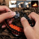 Paracorde de survie montre/bracelet d'urgence kit, homme et femme Outdoor Survival Bracelet avec Flint allume-feu boussole Sifflet Grattoir et la pêche Gear, 16en 1Kit de survie de la marque BlueStraw image 4 produit