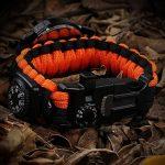 Paracorde de survie montre/bracelet d'urgence kit, homme et femme Outdoor Survival Bracelet avec Flint allume-feu boussole Sifflet Grattoir et la pêche Gear, 16en 1Kit de survie de la marque BlueStraw image 3 produit