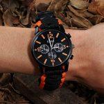 Paracorde de survie montre/bracelet d'urgence kit, homme et femme Outdoor Survival Bracelet avec Flint allume-feu boussole Sifflet Grattoir et la pêche Gear, 16en 1Kit de survie de la marque BlueStraw image 1 produit
