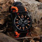 Paracorde de survie montre/bracelet d'urgence kit, homme et femme Outdoor Survival Bracelet avec Flint allume-feu boussole Sifflet Grattoir et la pêche Gear, 16en 1Kit de survie de la marque BlueStraw image 2 produit