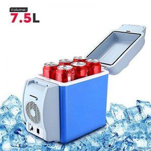 PARAMITA réfrigérateur de voiture 12 V Contenance de 6L&7.5L Camping Glacière portable de voiture réfrigérateur Cooler et chauffe réfrigérateur électrique pour voiture camion Bateau de voyage (Bleu-7.5L) de la marque PARAMITA image 0 produit