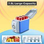 PARAMITA réfrigérateur de voiture 12 V Contenance de 6L&7.5L Camping Glacière portable de voiture réfrigérateur Cooler et chauffe réfrigérateur électrique pour voiture camion Bateau de voyage (Bleu-7.5L) de la marque PARAMITA image 3 produit