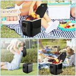 PARAMITA réfrigérateur de voiture 12 V Contenance de 6L&7.5L Camping Glacière portable de voiture réfrigérateur Cooler et chauffe réfrigérateur électrique pour voiture camion Bateau de voyage (Noir-6L) de la marque PARAMITA image 2 produit