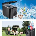 PARAMITA réfrigérateur de voiture 12 V Contenance de 6L&7.5L Camping Glacière portable de voiture réfrigérateur Cooler et chauffe réfrigérateur électrique pour voiture camion Bateau de voyage (Noir-6L) de la marque PARAMITA image 3 produit