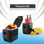PARAMITA réfrigérateur de voiture 12 V Contenance de 6L&7.5L Camping Glacière portable de voiture réfrigérateur Cooler et chauffe réfrigérateur électrique pour voiture camion Bateau de voyage (Noir-6L) de la marque PARAMITA image 4 produit