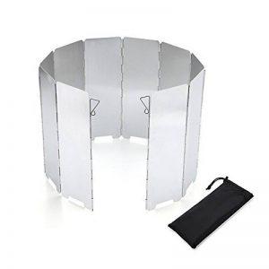 Pare-vent Pliable pour réchaud de camping, cuisinière à gaz Portable Ultra-légers 10 plats de la marque Spotact image 0 produit