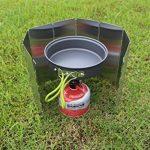 Pare-vent Pliable pour réchaud de camping, cuisinière à gaz Portable Ultra-légers 10 plats de la marque Spotact image 4 produit