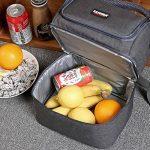 Pawaca Bag|large repas isotherme Cooler Tote Bag|large Capacité Bandoulière réglable pour adulte Lunch Box pour homme, femme, adulte, Kids| Lunch Box pour le travail, l'école, pique-nique de la marque Pawaca image 3 produit
