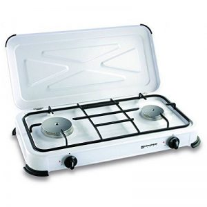Plaque de cuisson gaz portable 2 feux - 2600 w - blanc laqué de la marque Kemper image 0 produit