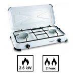 Plaque de cuisson gaz portable 2 feux - 2600 w - blanc laqué de la marque Kemper image 1 produit