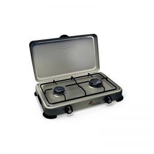 Plaque de cuisson gaz portable 2 feux 3200 W SILVER 2 butane-propane Gris aluminium couvercle de la marque Proweltek image 0 produit
