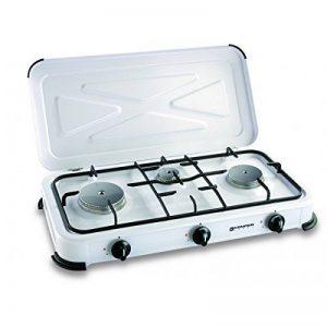 Plaque de cuisson gaz portable 3 feux - 3450 w - blanc laqué de la marque Kemper image 0 produit