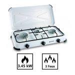 Plaque de cuisson gaz portable 3 feux - 3450 w - blanc laqué de la marque Kemper image 1 produit