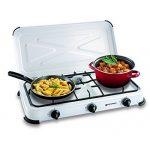 Plaque de cuisson gaz portable 3 feux - 3450 w - blanc laqué de la marque Kemper image 2 produit