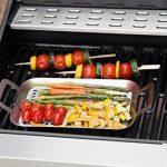 Plat de cuisson pour barbecue, en acier inoxydable, 28 x 19 cm, Barney Barbecue de Springlane Selection Plat de barbecue perforé, convient aux barbecues au gaz et au charbon de bois! de la marque Springlane Selection image 2 produit