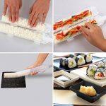 POAO DIY Sushi Maker - Ustensile pour Préparation de Sushi Roll pour les fans de cuisine japonaise & de cuisine facile - Le cadeau idéal de la marque POAO image 2 produit