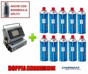 Poêle Campingaz chauffage à gaz Portable Double attaque gPL/Butane + 10Cartouche originale en hommage de la marque ALTIGASI image 0 produit