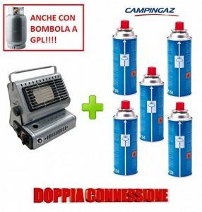 Poêle Campingaz chauffage à gaz Portable Double attaque gPL/Butane + 5Cartouche originale en hommage de la marque ALTIGASI image 0 produit
